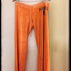 Juicy Couture Orange Track Pants